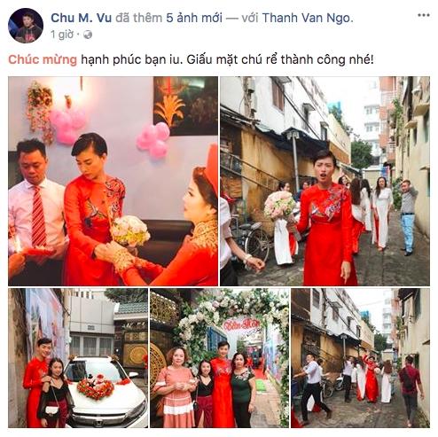 Dân mạng xôn xao trước hình ảnh Ngô Thanh Vân mặc áo dài trong lễ rước dâu - Ảnh 1.