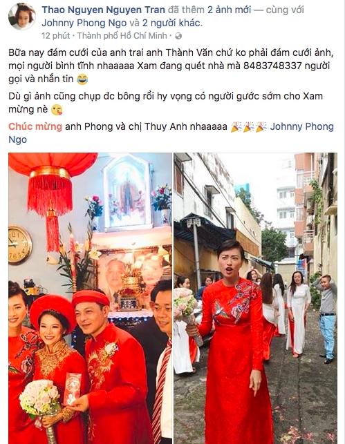 Dân mạng xôn xao trước hình ảnh Ngô Thanh Vân mặc áo dài trong lễ rước dâu - Ảnh 4.
