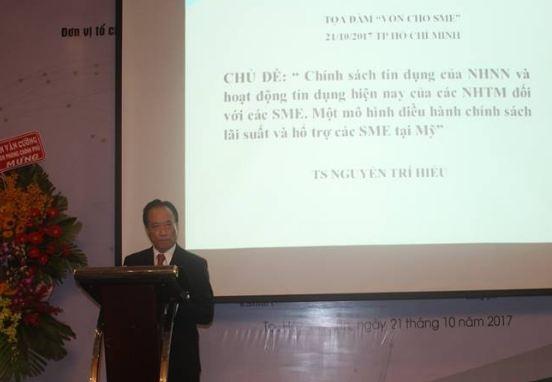 Theo TS Nguyễn Trí Hiếu, ngân hàng cứ như tiệm cầm đồ thì SME khó tiếp cận vốn