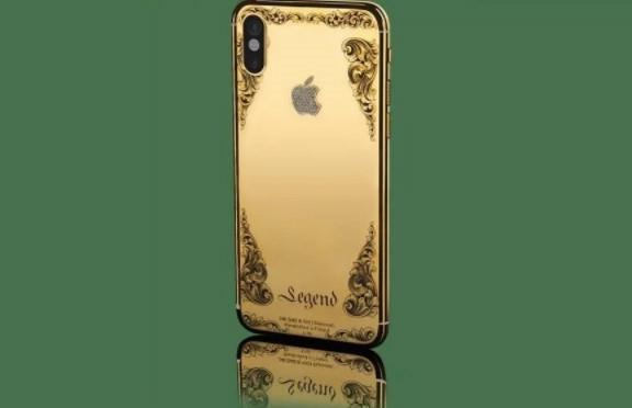 Nếu thấy chiếc iPhone X chưa đủ độ sang, bạn có thể chọn các phiên bản mạ vàng, đính kim cương.
