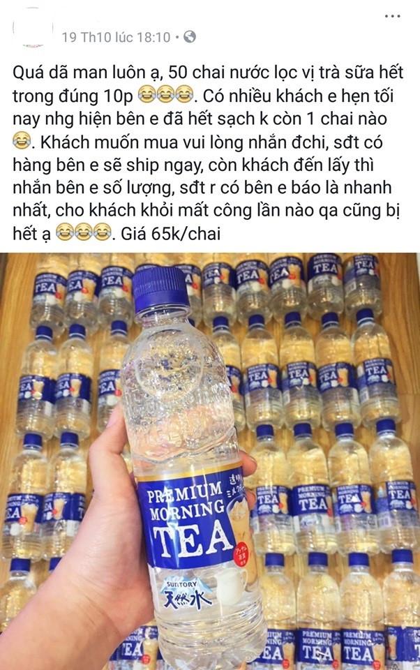 Nuoc loc vi tra sua Nhat Ban 65.000 dong mot chai chay hang tren mang hinh anh 1