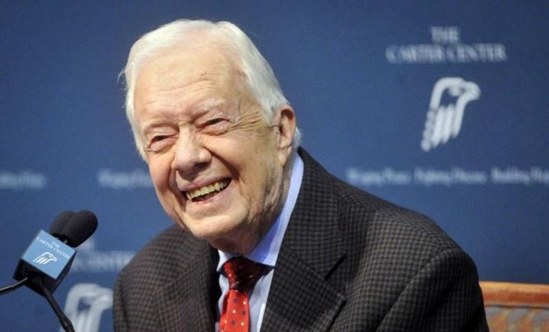 Cựu Tổng thống Dân chủ Mỹ Jimmy Carter tại một cuộc họp báo ở bang Georgia (Mỹ) ngày 20-8-2015. Ảnh: REUTERS