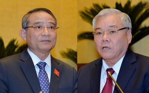 Bộ trưởng GTVT Trương Quang Nghĩa, Tổng Thanh tra Chính phủ Phan Văn Sáu sẽ được Quốc hội miễn nhiệm trong tuần này.