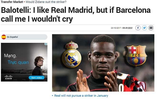 """Tồi tệ Ronaldo: Báo thân Barca """"đánh hội đồng"""", Balotelli được thể sỉ nhục - 4"""
